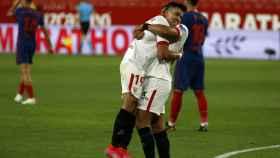 Sevilla y Atlético de Madrid en el último partido de LaLiga del pasado fin de semana.