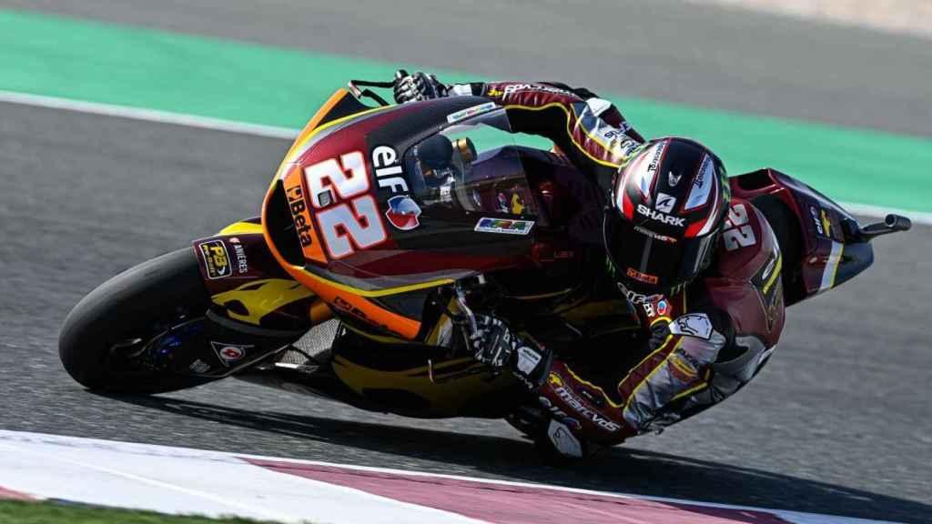 Sam Lowes en la carrera de Moto2
