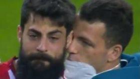 Asier Villalibre, llorando tras la final de la Copa del Rey