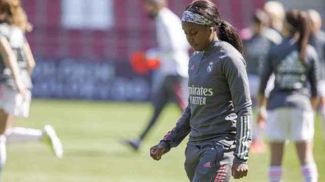 Chioma Ubogagu, durante el EDF Logroño - Real Madrid Femenino