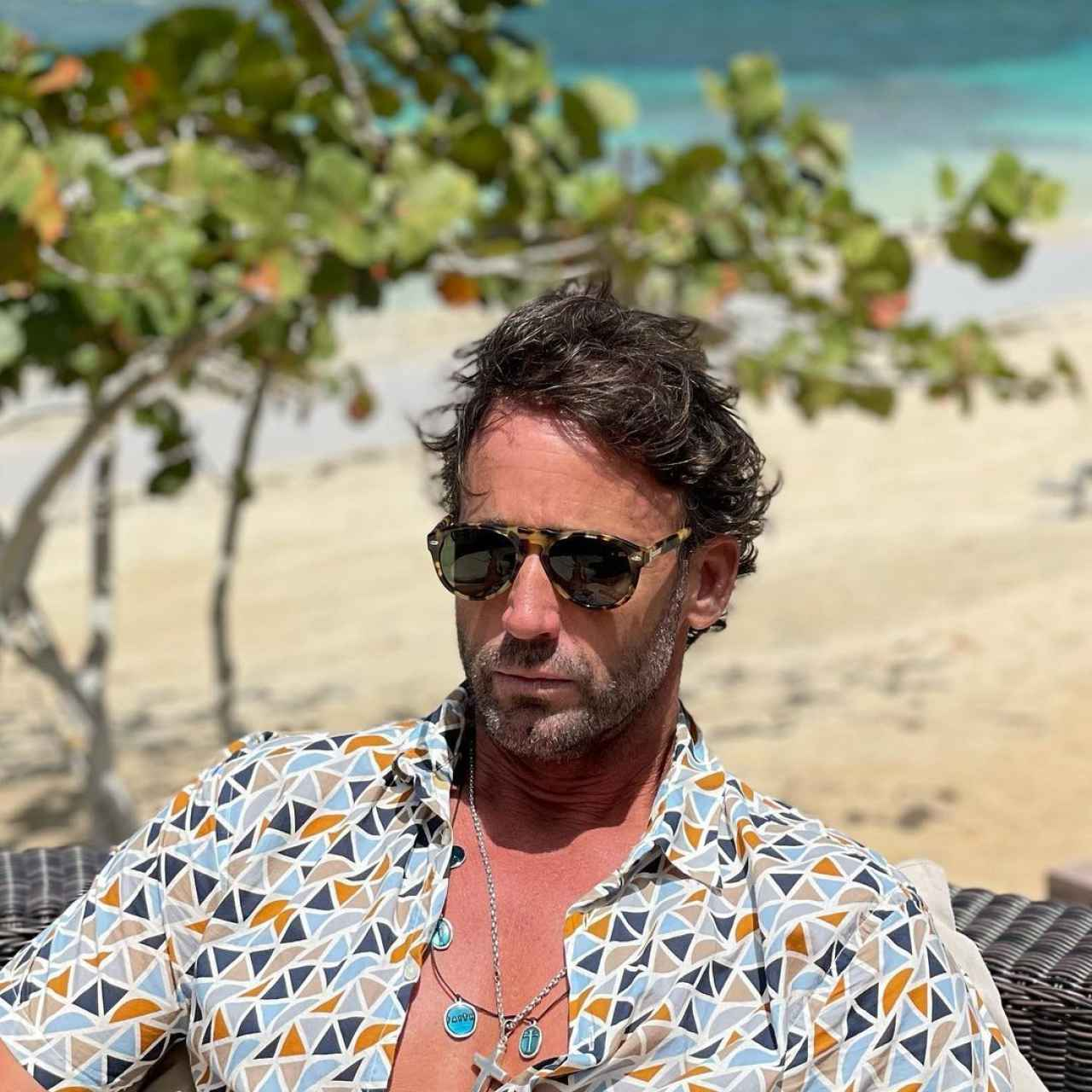 Álvaro Muñoz Escassi en una imagen de sus redes sociales en Punta Cana.