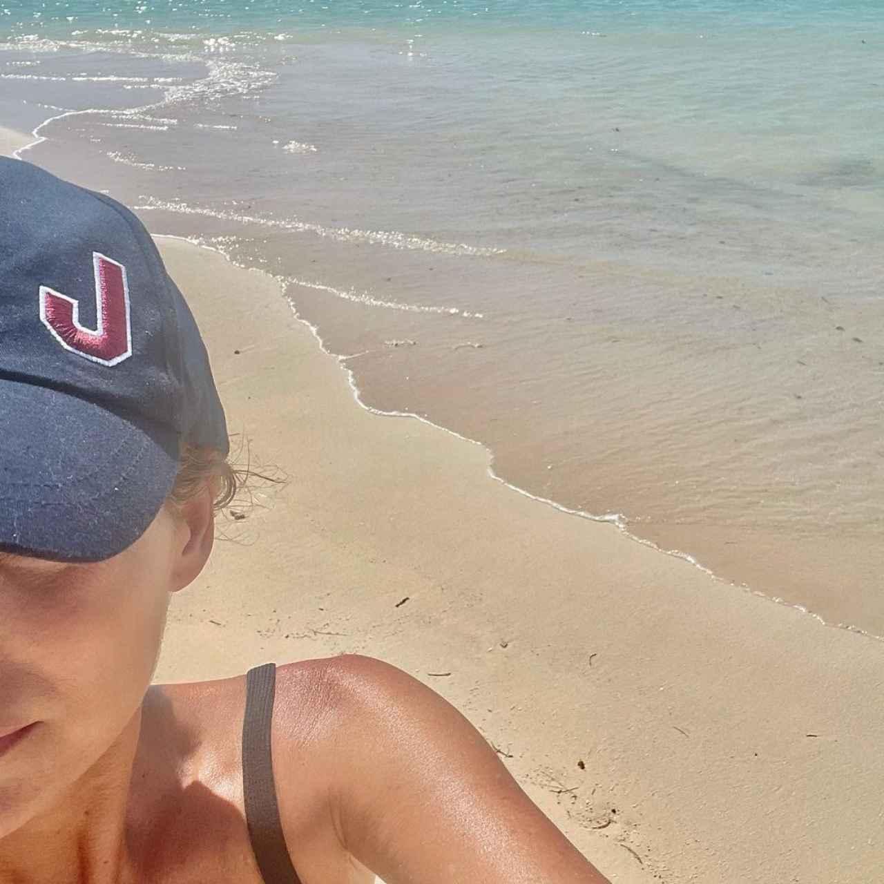 Andrea Pascual disfrutando de las playas de Punta Cana.