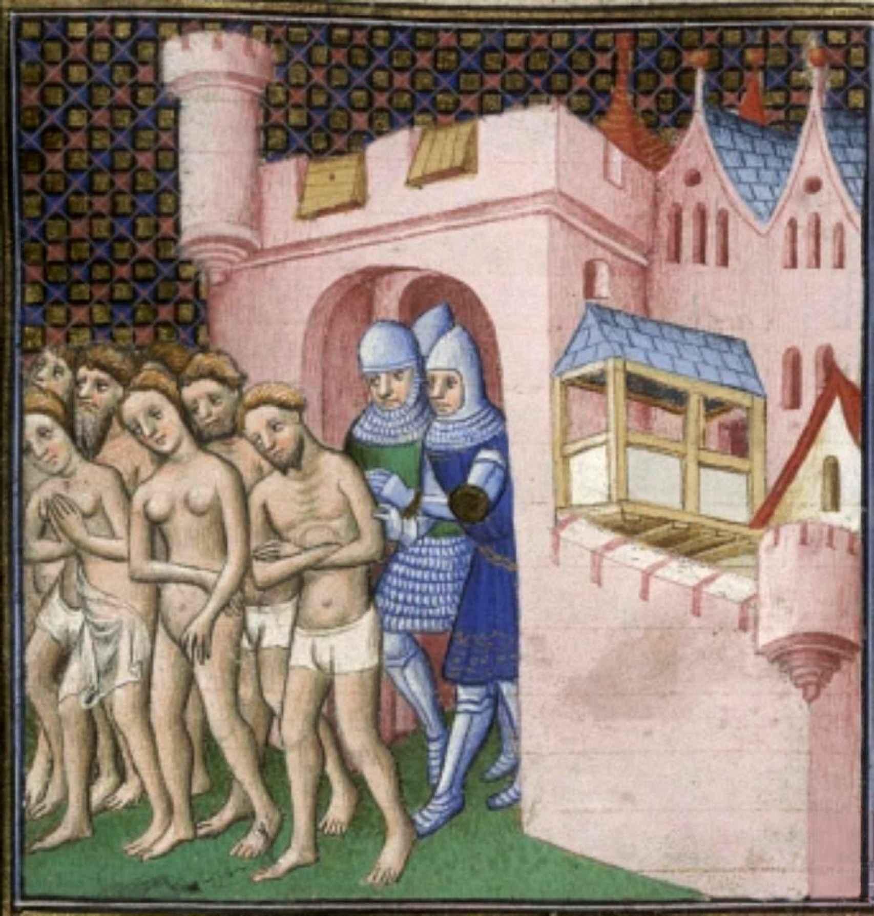 Los cátaros, expulsados de Carcasona.