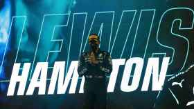Lewis Hamilton, tras ganar el Gran Premio de Bahrein de Fórmula 1 en 2021