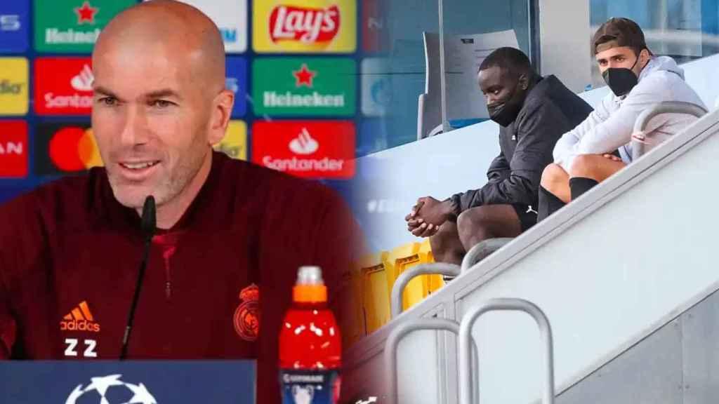 Zinedine Zidane y Mouctar Diakhaby, en un fotomontaje