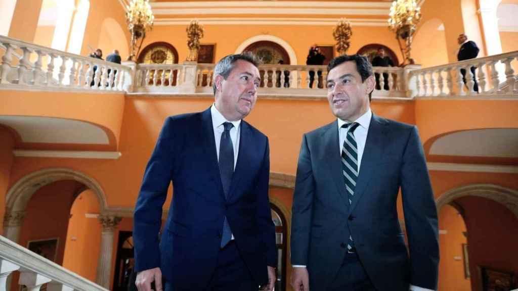 Juan Espadas y Juanma Moreno en una imagen de archivo.