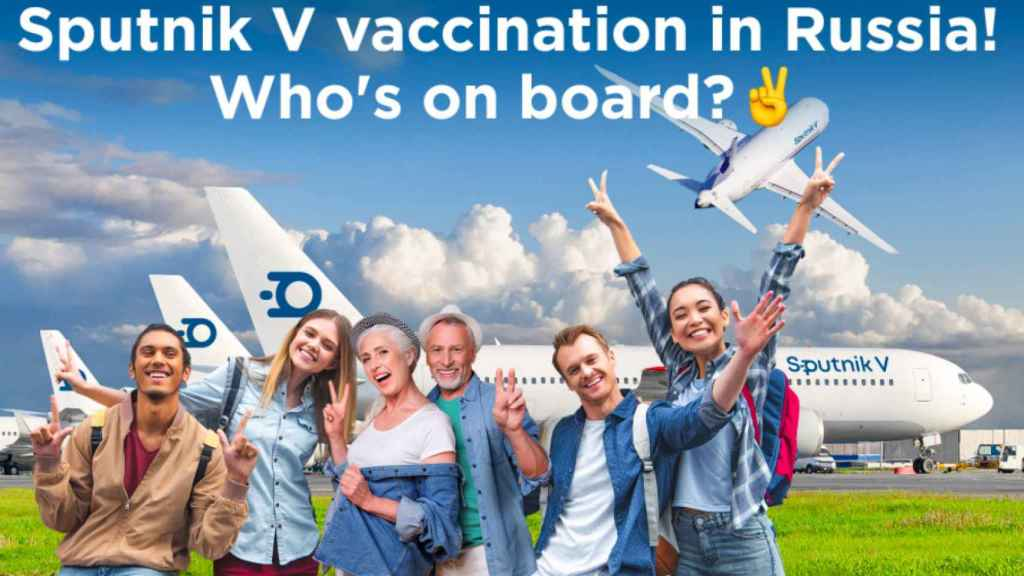 Imagen de la promoción de la vacuna contra la Covid-19, Sputnik V.