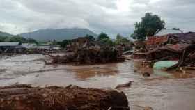 Las inundaciones en Indonesia.