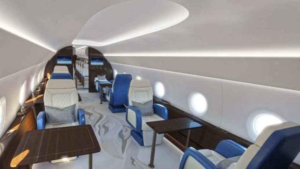 Interior próximo avión presidencial supersónico de Estados Unidos
