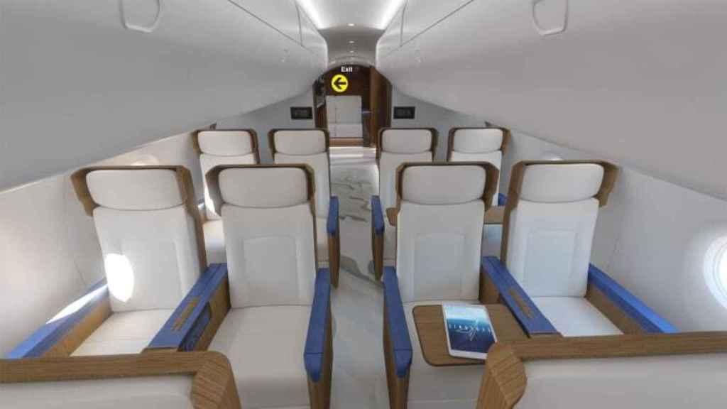 Cabina de pasajeros del próximo avión supersónico de Estados Unidos