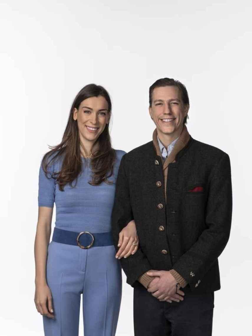 El príncipe Luis de Luxemburgo y su prometida, Scarlett-Lauren Sirgue.