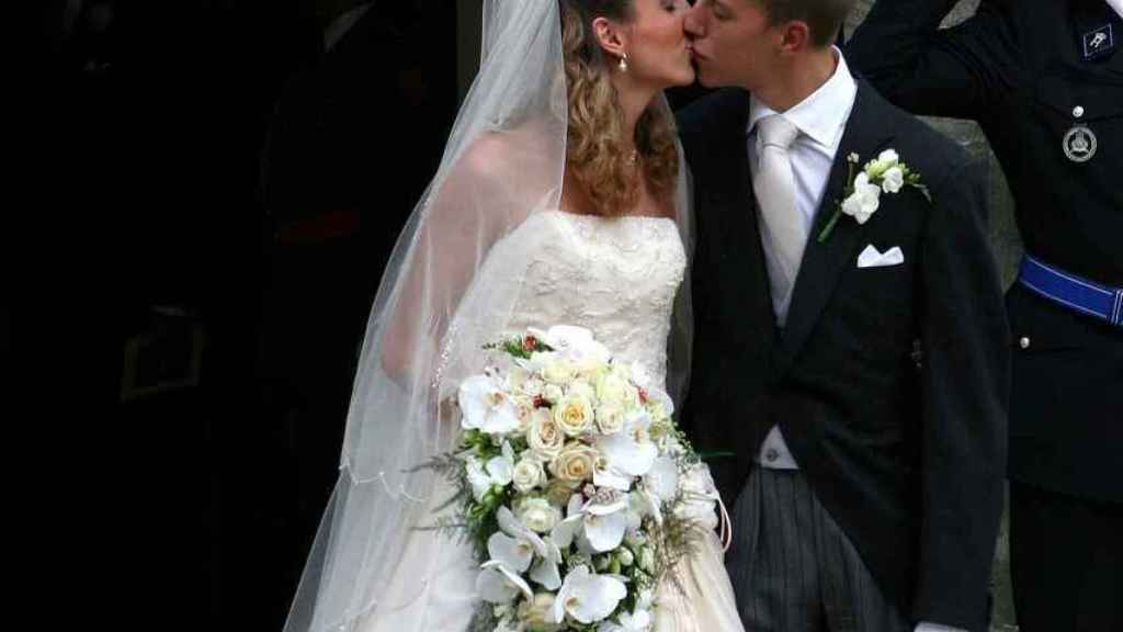 El príncipe Luis y Tessy Antony en su boda en septiembre de 2006.