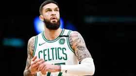 Vincent Poirier, durante un partido con los Boston Celtics