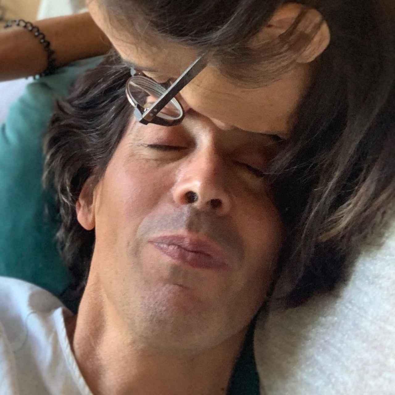 Antonio en una foto compartida por Paz después de su muerte, para felicitarle por el que hubiera sido su cumpleaños.