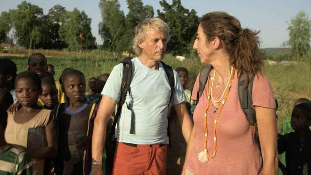 La presentadora en ese viaje a Benín que realizó con 'Planeta Calleja'.