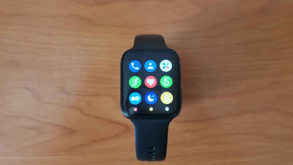 Menú de aplicaciones del Oppo Watch 46mm