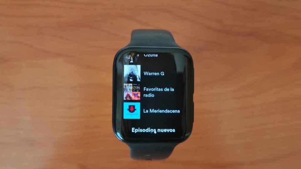 Spotify en Oppo Watch 46mm