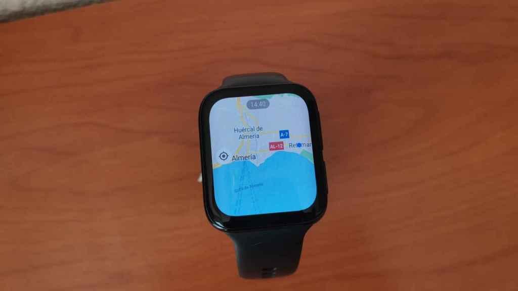 Google Maps en el Oppo Watch 46mm