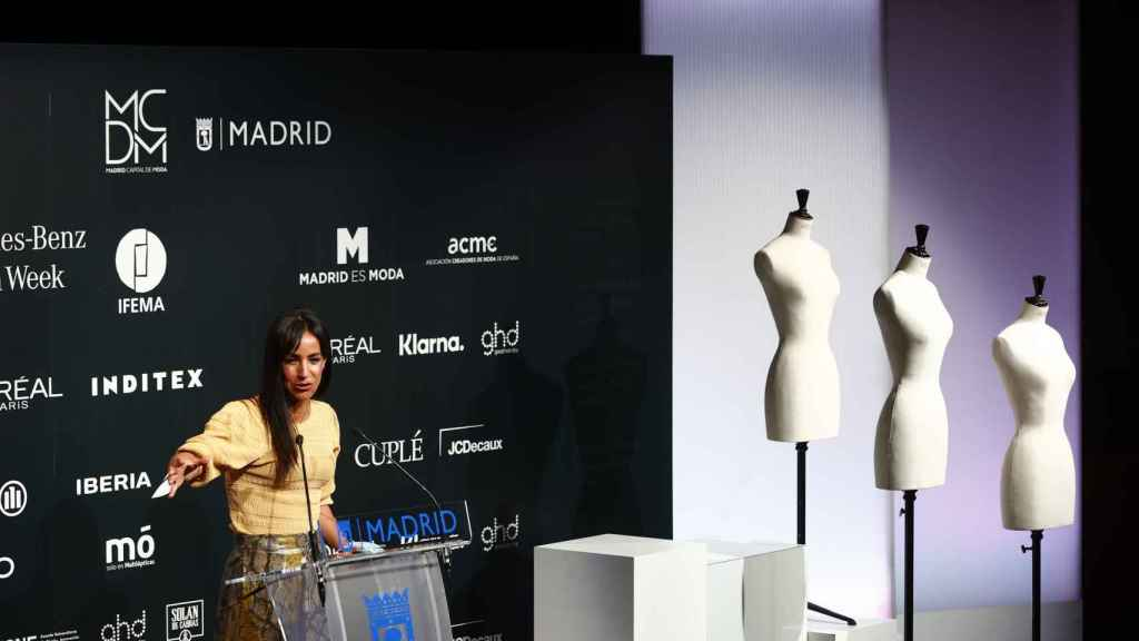 Begoña Villacís durante la presentación de la 73ª edición de la MBFWM.