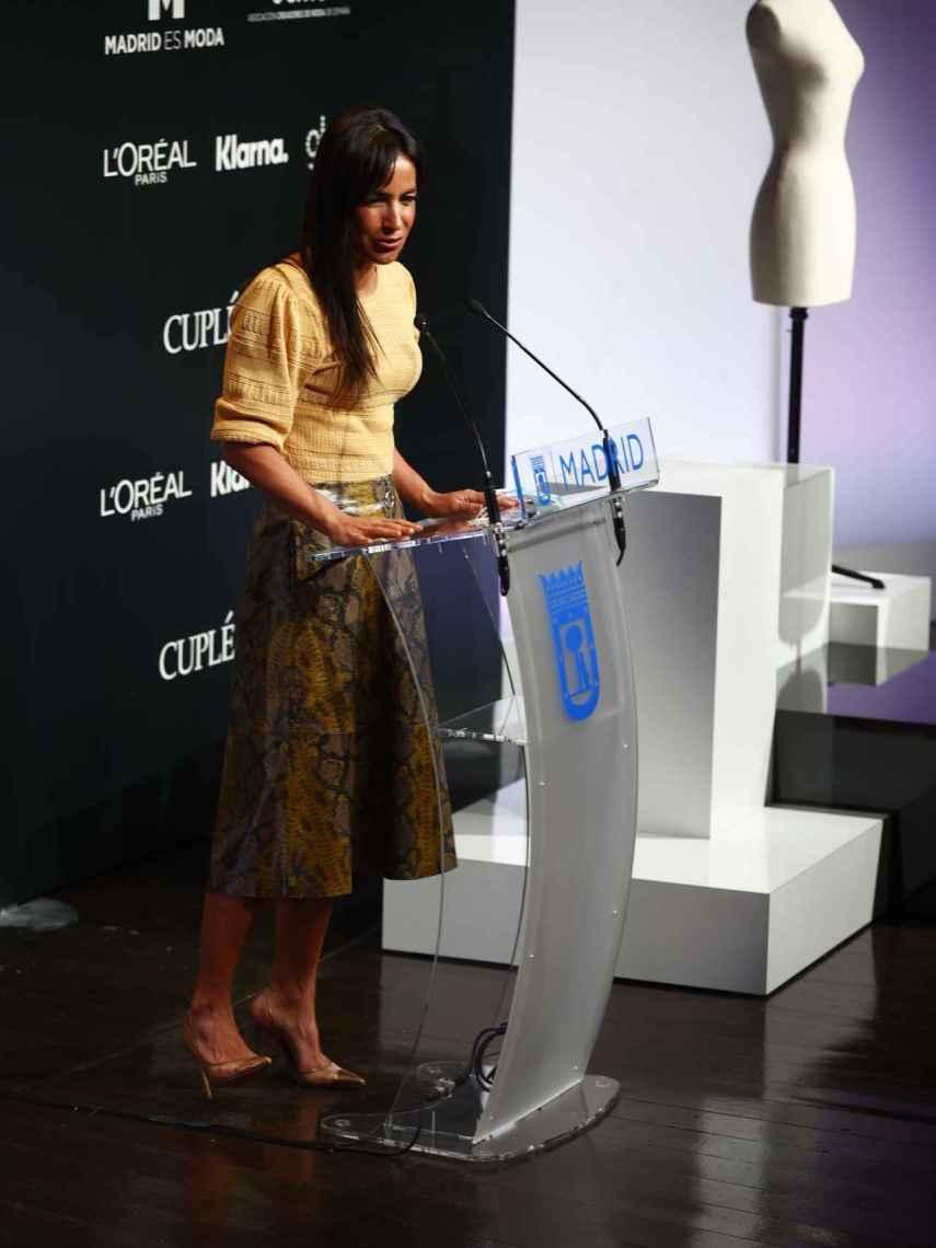 The vice mayor of Madrid, Begoña Villacís, with sling back stilettos.