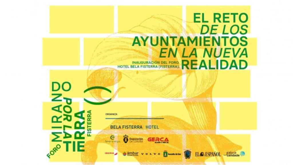 Cartel promocional del seminario El reto de los ayuntamientos en la nueva realidad.