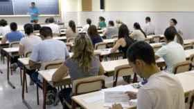 Imagen de un examen antes de la pandemia.