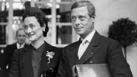 Wallis Simpson y el príncipe Eduardo, durante una visita a España en 1940.