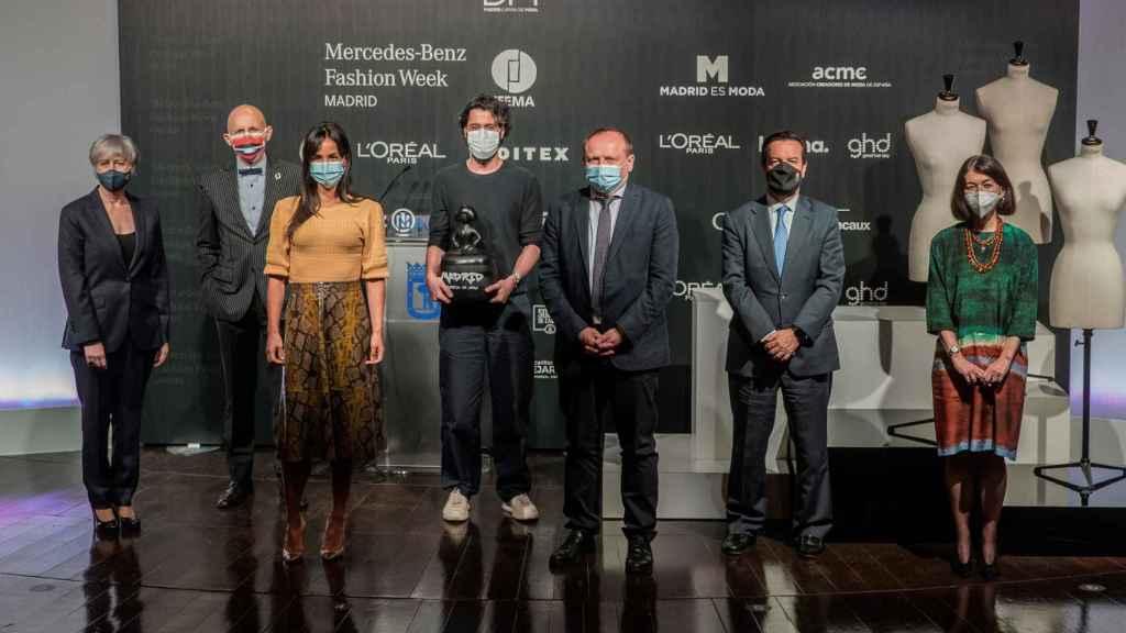 Foto de familia durante la presentación de la 73ª edición de la Mercedes-Benz Fashion Week Madrid.
