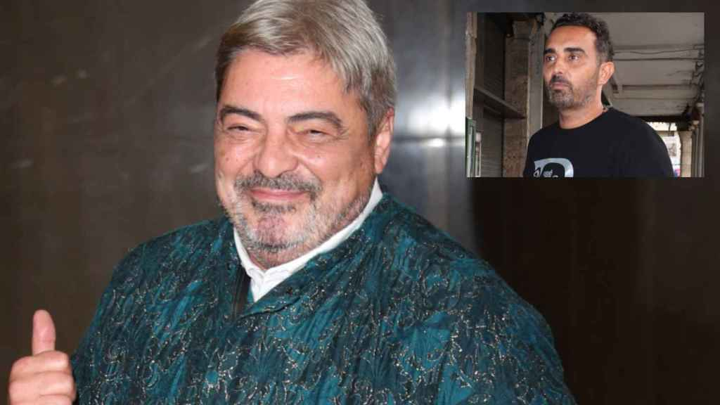 Antonio Canales junto a Fidel Albiac en montaje de JALEOS.