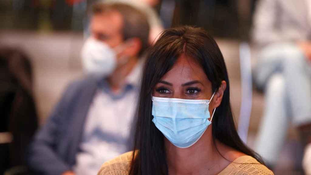 Begoña Villacís en la presentación de la Mercedes-Benz Fashion Week Madrid.