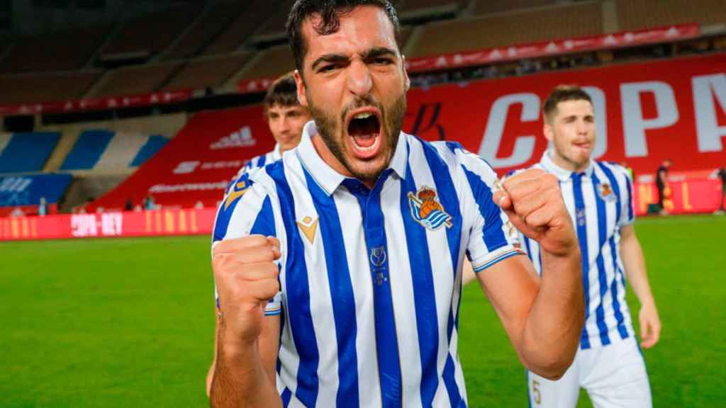 Mikel Merino, tras ganar la Copa del Rey