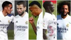 Collage de la defensa del Real Madrid