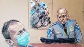 El jefe de la Policía de Minneapolis, Medaria Arradondo, en el juicio al exoficial Derek Chauvin.