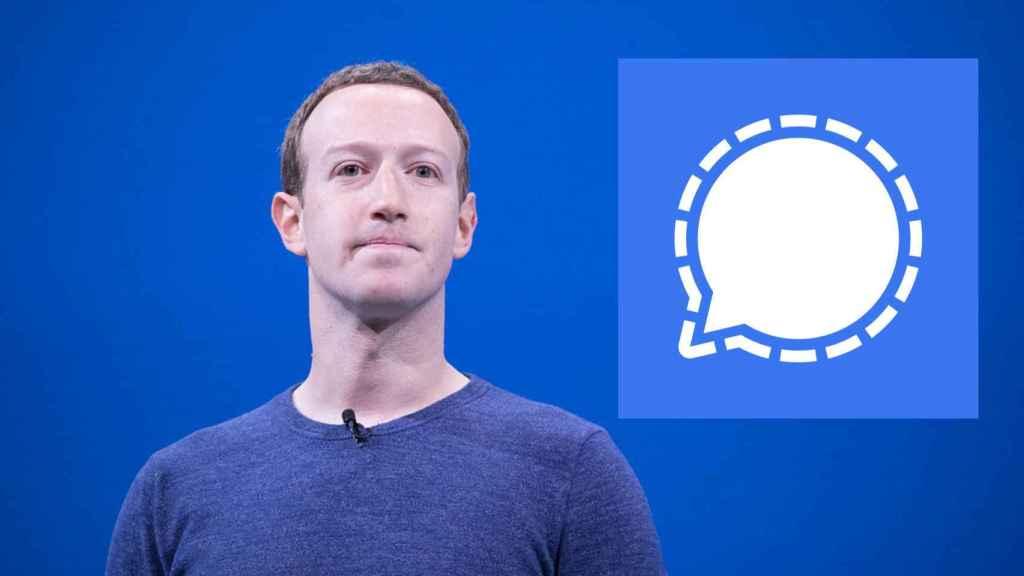 Mark Zuckerberg, CEO de Facebook, y Signal