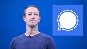 Mark Zuckerberg, CEO de Facebook, y Signal