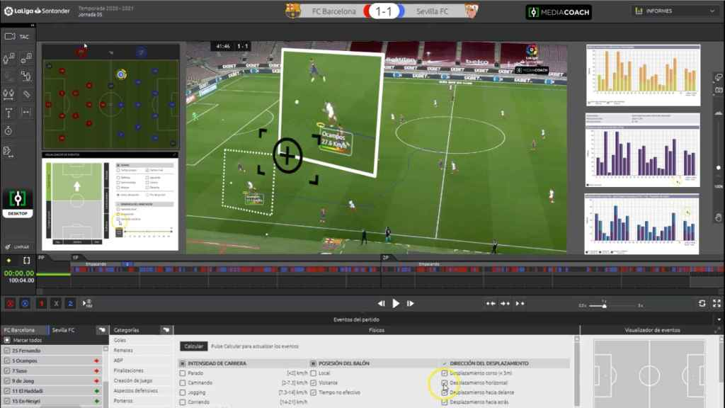 Mediacoach also offers videos to review plays.