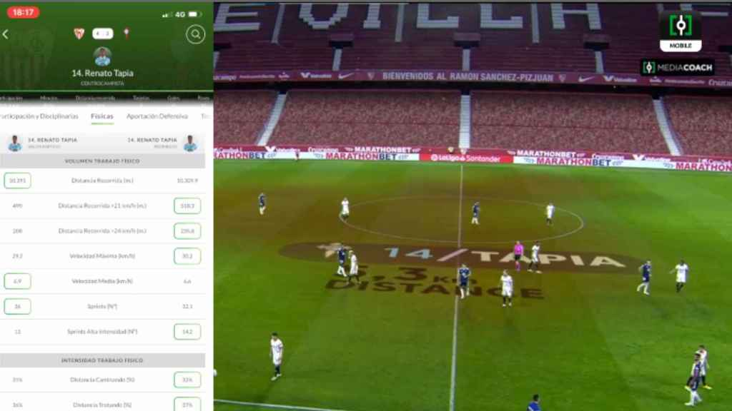 This is Mediacoach, LaLiga's tool.