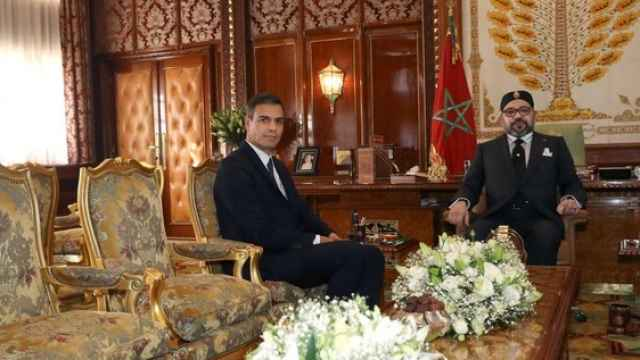 Pedro Sánchez y el rey de Marruecos Mohamed VI durante la reunión que mantuvieron en 2018.