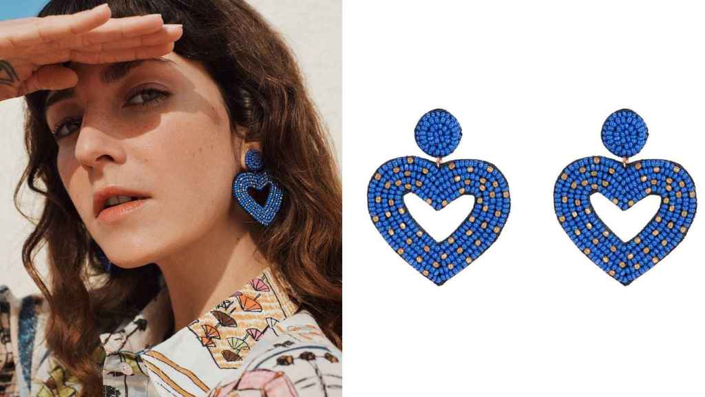 The long, colorful earrings are still the emblem of the Parfois brand.