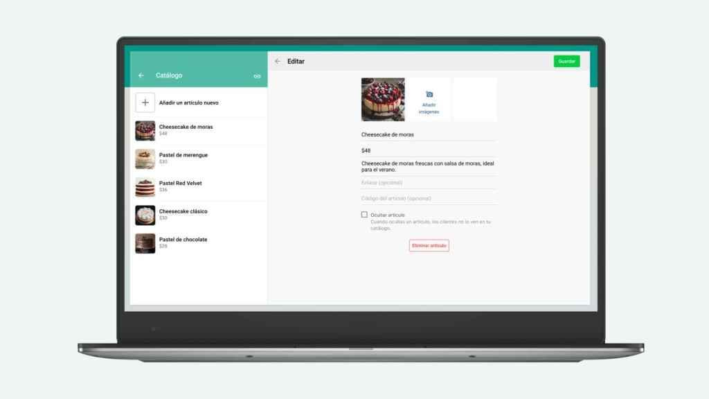 Así de fácil podrás gestionar el catálogo en WhatsApp Web.
