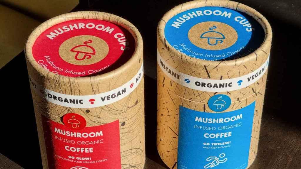 Las variedades de café vegano de Mushroom Cups