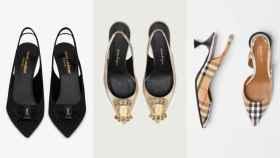Diferentes modelos de zapatos destalonados, en un montaje de JALEOS.