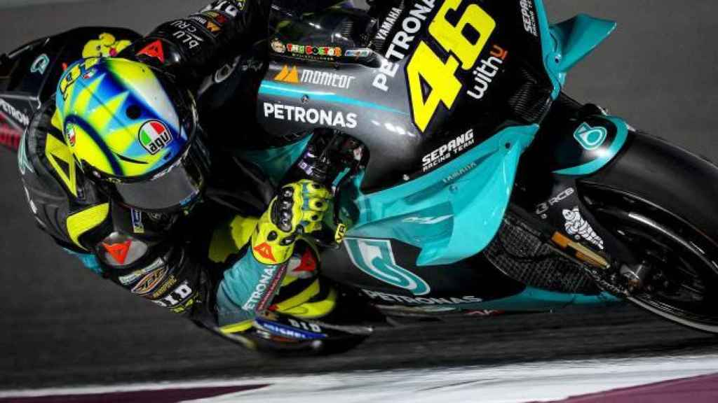 Valentino Rossi, durante el Gran Premio de Doha