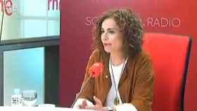 María Jesús Montero durante la entrevista.
