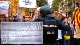 Detalle del correo remitido por el teniente coronel Gómez Naranjoa los guardias que contradice la versión de la Generalitat.