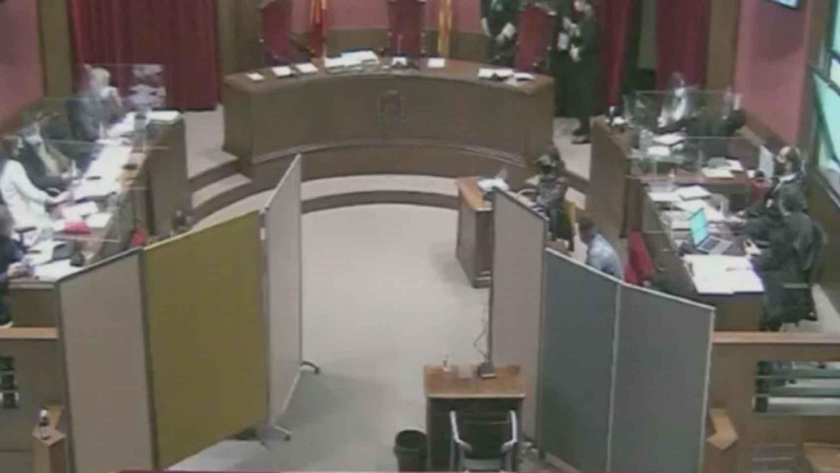 Imagen del juicio durante el interrogatorio del pasado martes.