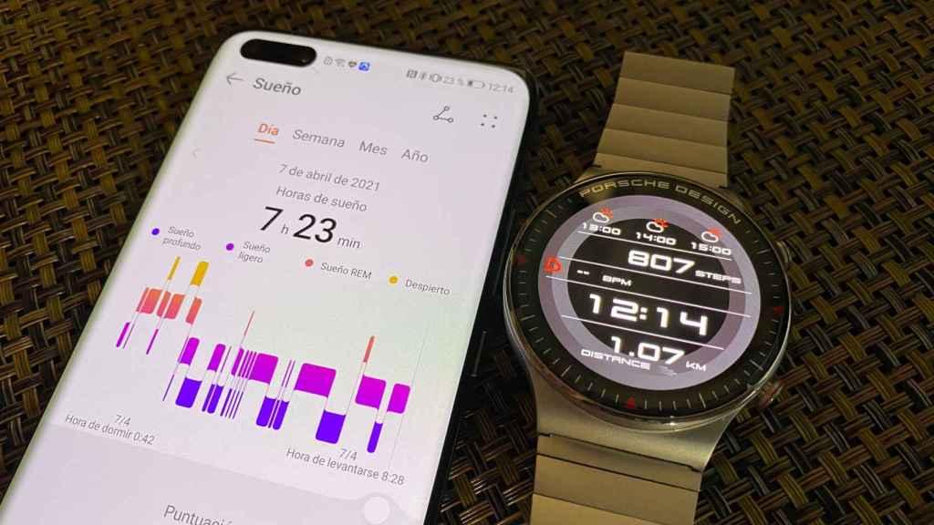 El reloj de Porsche y Huawei permite registrar el sueño y muchos más datos