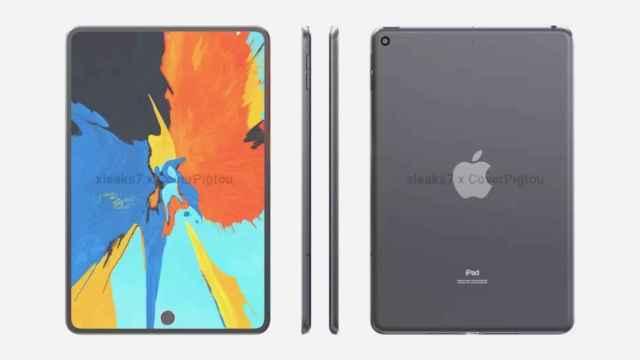 Imagen generada por ordenador del nuevo iPad Mini
