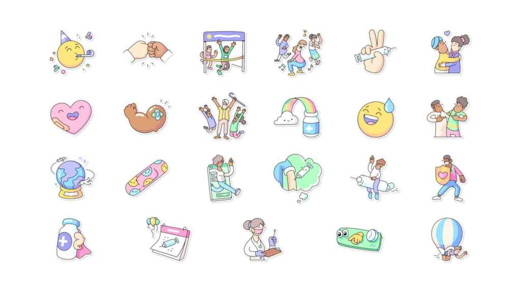 Nuevos stickers de WhatsApp y la OMS