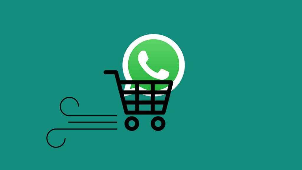 Fotomontaje con el logo de WhatsApp.